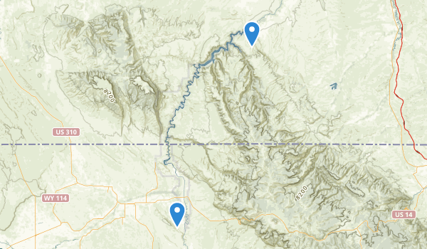 trail locations for Bighorn Canyon National Recreation Area