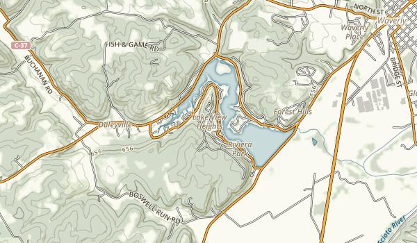 Lake White State Park Map