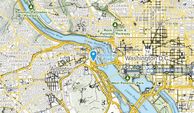Theodore Roosevelt Island Park Map