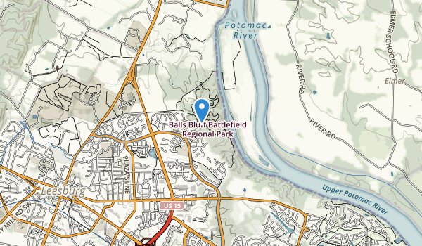 Ball's Bluff Regional Park Map