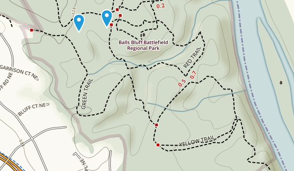 Ball's Bluff Regional Park Map