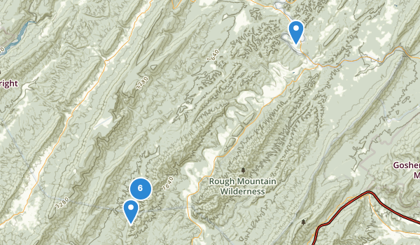 trail locations for Douthat State Park