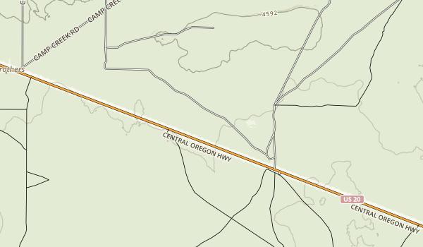 Cow Creek Recreation  Area Map