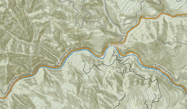 North Umpqua River Recreation Area Map