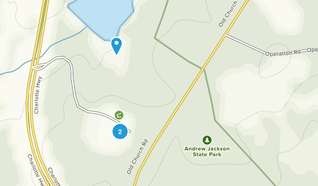 Andrew Jackson State Park Map
