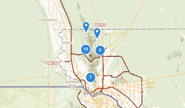 Franklin Mountains State Park Map