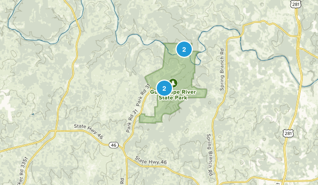 Guadalupe River State Park Map