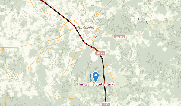 trail locations for Huntsville State Park