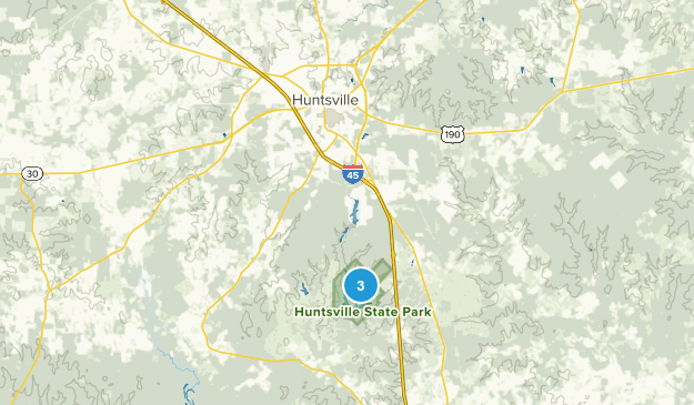 Huntsville State Park Map