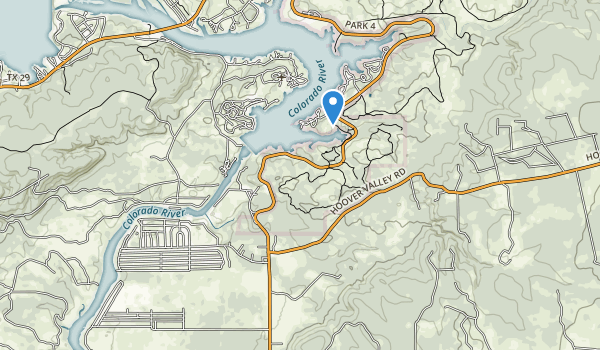 trail locations for Inks Lake State Park