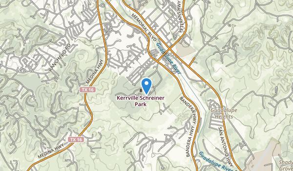 Kerrville-Schreiner Park Map