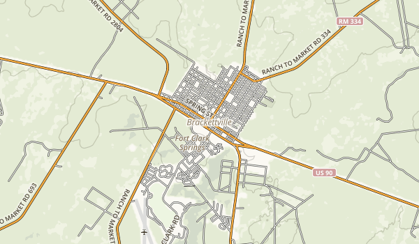 Kickapoo Cavern State Park Map