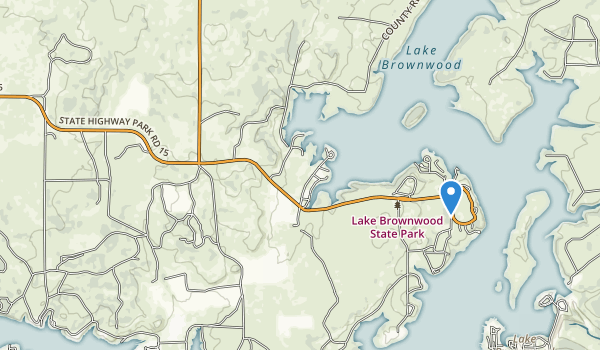 trail locations for Lake Brownwood State Park