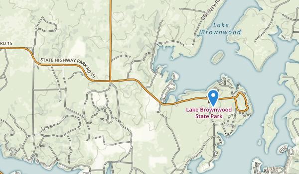 Lake Brownwood State Park Map