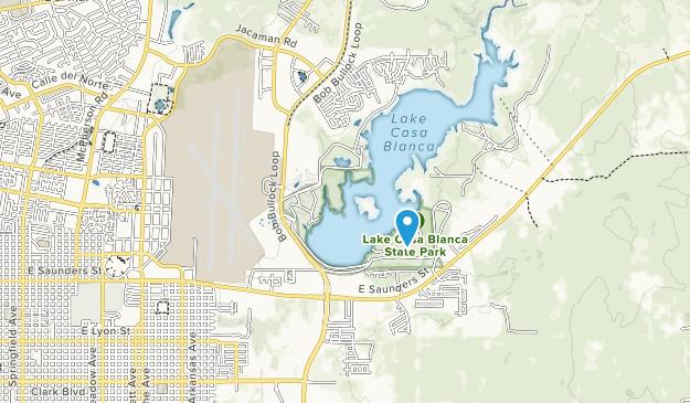 Lake Casa Blanca International State Park Map