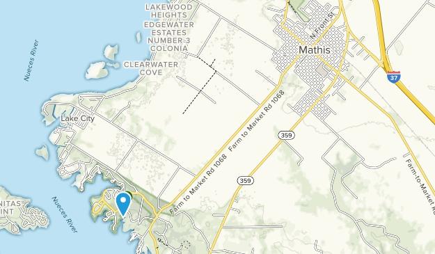 Parque Estatal Lake Corpus Christi Map