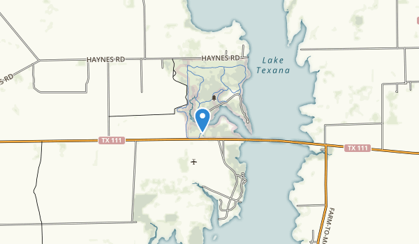 Lake Texana State Park Map