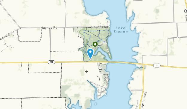 Lake Texana State Park Map