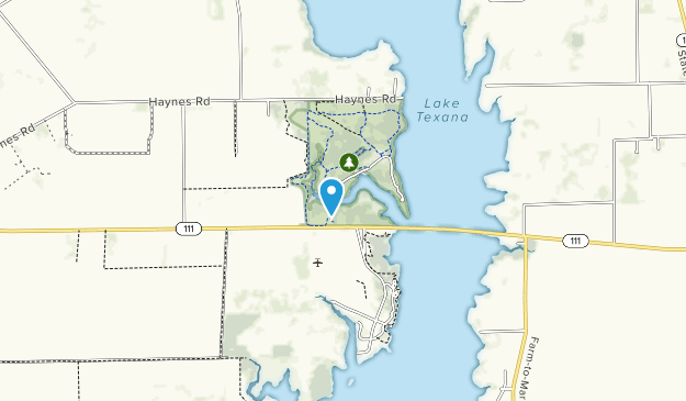 Parque Estatal del Lago Texana Map