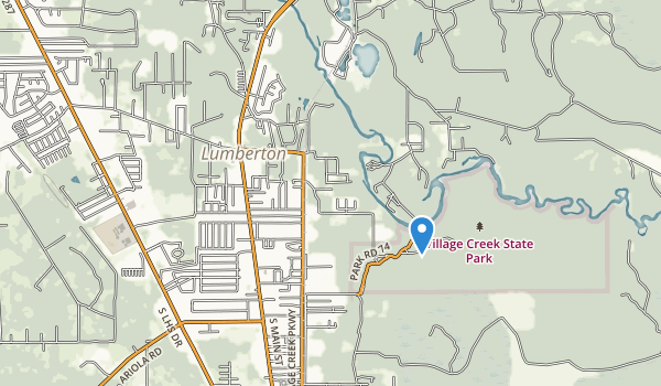 trail locations for Village Creek State Park