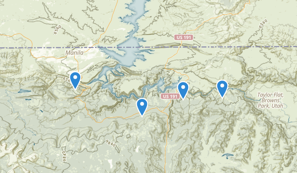 trail locations for Flaming Gorge National Rec. Area