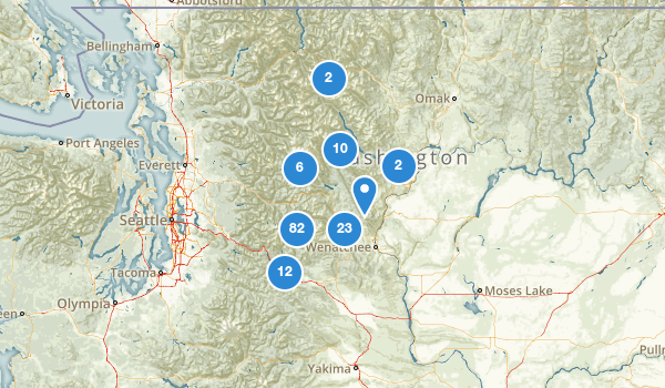 trail locations for Wenatchee National Forest