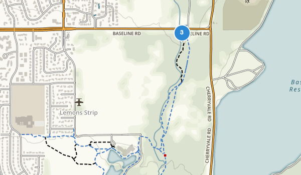 trail locations for East Boulder Community Park