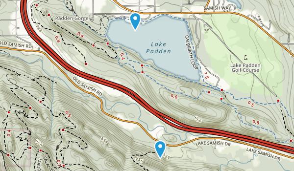 Lake Padden Park Map