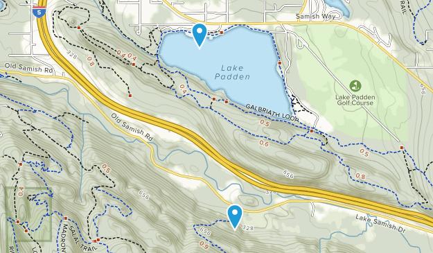 Parque Lake Padden Map