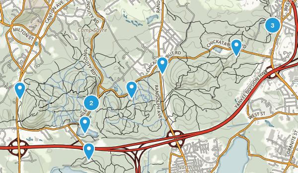 Blue Hills Reservation Map