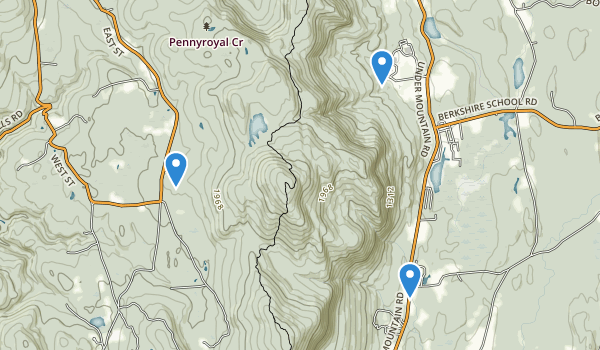 trail locations for Mt Everett State Reservation