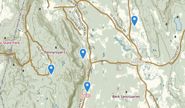 Mt Everett State Reservation Map