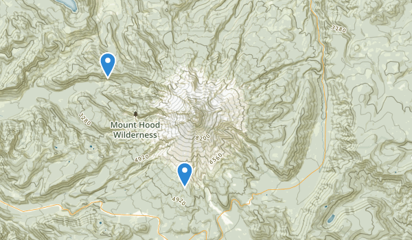 trail locations for Mount Hood National Forest