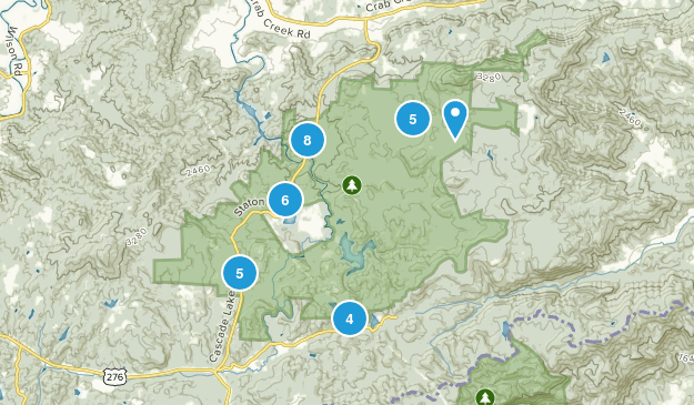 Dupont State Forest Map