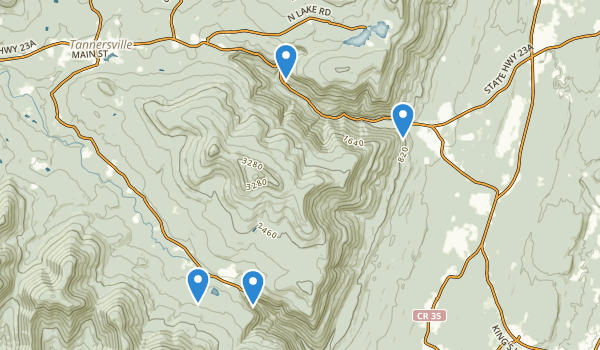 trail locations for Kaaterskill Wild Forest