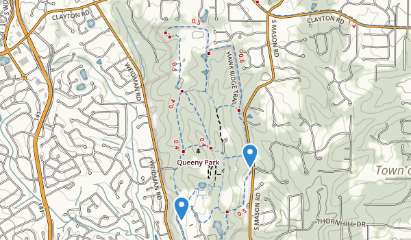 trail locations for Edgar M Queeny County Park