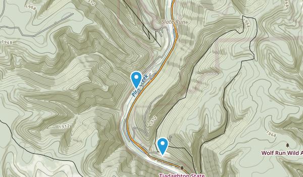 Wolf Run Wilderness Area Map