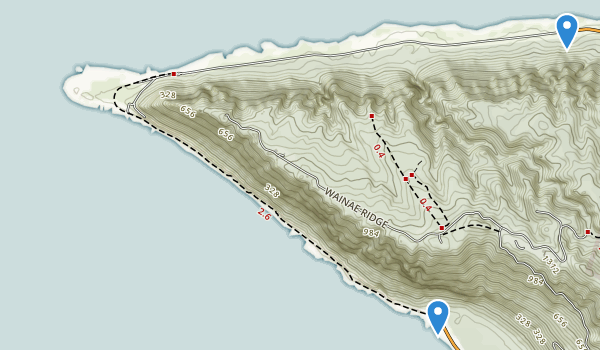 trail locations for Kaena Point State Park