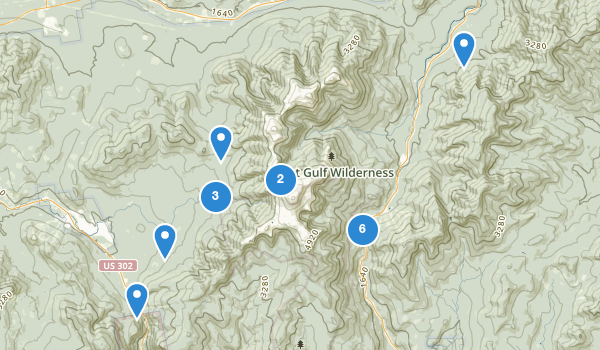 trail locations for Mt Washington State Park