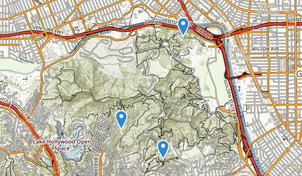 trail locations for Bronson Canyon Park