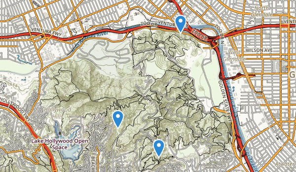 Bronson Canyon Park Map