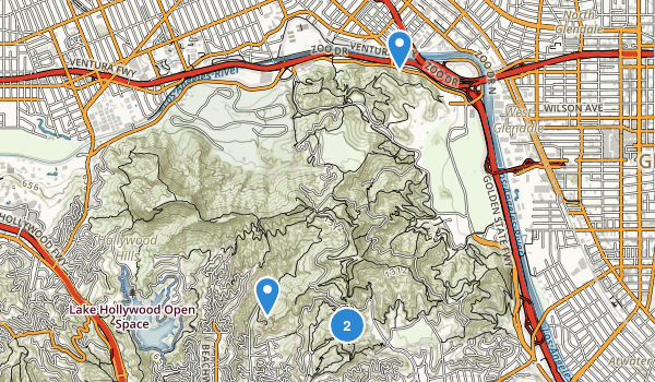 Bronson Canyon Park Map