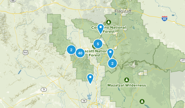 Prescott National Forest Map