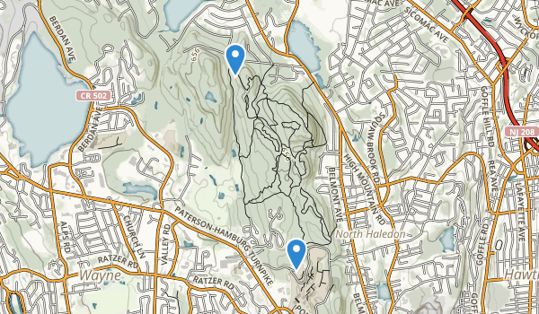 High Mountain Park Presrrve Map
