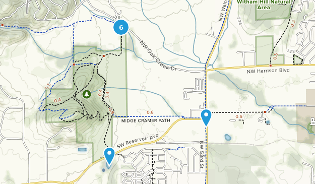 Bald Hill Natural Area Map
