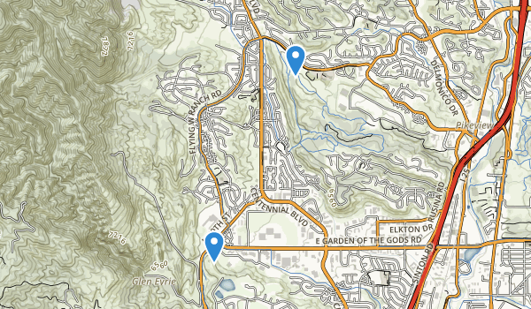 trail locations for Ute Valley Park