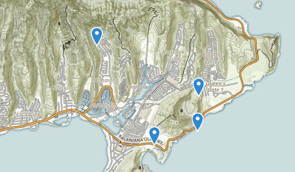 trail locations for Koko Head Park