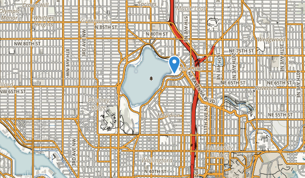 trail locations for Green Lake Park