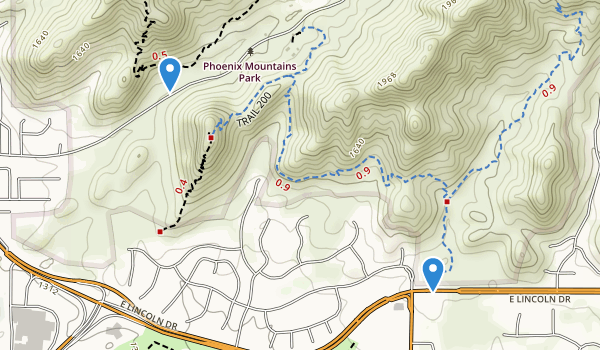 trail locations for Piestewa Peak Park