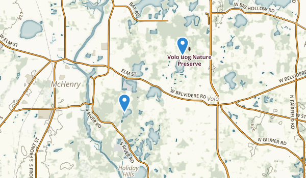 trail locations for Department Ho Natural Resources Moraine Hills State Park